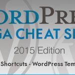WordPress Mega Cheat Sheet Infographic